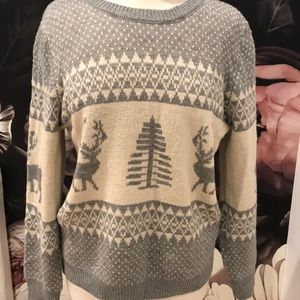 Vintage ski sweater sz l super soft
